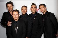 Howard+Donald,+Mark+Owen,+Gary+Barlow,+Robbie+Williams+and+Jason+Orange+of+Take+That+